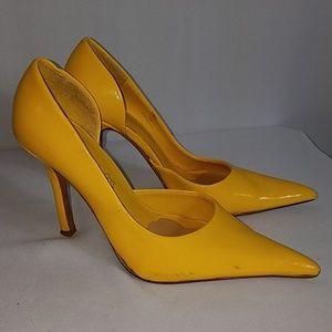 ALDO lemon yellow heels size 36